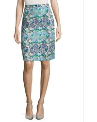Manoush Jupe Liberty Vintage Skirt - Blue