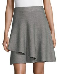 Saks Fifth Avenue Double Layer Ruffle Skirt - Grey