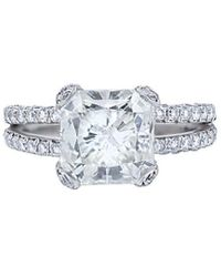 Diana M. Jewels . Fine Jewellery Platinum 5.92 Ct. Tw. Diamond Ring - Metallic
