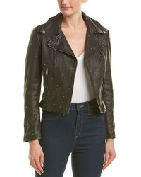 Lamarque - Studded Leather Jacket - Lyst