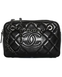 Chanel Black Quilted Leather Ballerine Camera Case