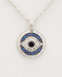 Judith Ripka - Lucky Silver 0.36 Ct. Tw. Gemstone Evil Eye Necklace - Lyst