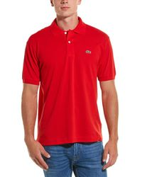 Lacoste L1212 Classic Fit Polo - Red