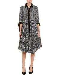 Gracia Chequered Dress - Grey