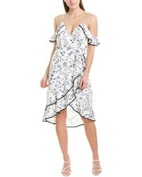 Greylin Emma Midi Dress - White