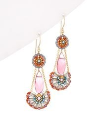 Miguel Ases 14k Filled Earrings - White