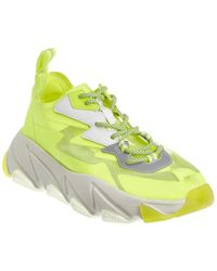 Ash Eclipse Neon Lace-up Sneakers - Yellow