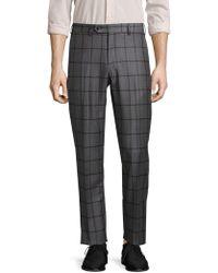 Lubiam - Plaid Wool Trousers - Lyst