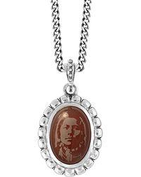 King Baby Studio Silver Carnelian Necklace - Metallic