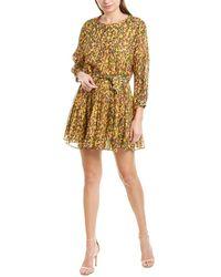 10 Crosby Derek Lam Godet Mini Dress - Yellow