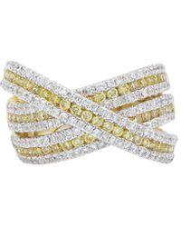 Diana M. Jewels . Fine Jewellery 14k 1.06 Ct. Tw. Diamond Ring - Multicolour