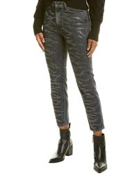 7 For All Mankind - 7 For All Mankind Zebra Crystal Slate Ridge Crop - Lyst