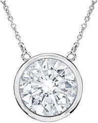 Diana M. Jewels . Fine Jewelry 18k 1.00 Ct. Tw. Diamond Pendant Necklace - Metallic