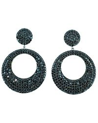 Arthur Marder Fine Jewelry Silver Spinel Hoops - Multicolour