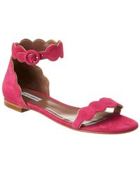 Tabitha Simmons Pearl Suede Sandal - Pink