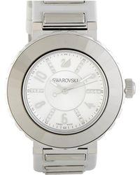 Swarovski Women's Rubber Watch - Metallic
