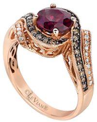 Le Vian Chocolatier 14k Rose Gold 1.71 Ct. Tw. Diamond & Rhodolite Ring - Pink
