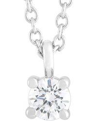 Heritage Tiffany & Co. Tiffany & Co. Platinum 0.15 Ct. Tw. Diamond Necklace - Metallic