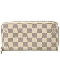 Louis Vuitton Damier Azur Canvas Zippy Wallet - White