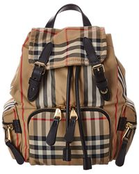 Burberry Small Vintage Check Backpack - Natural