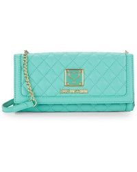 Love Moschino - Quilted Convertible Wallet With Chain - Lyst