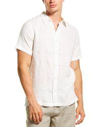 Onia Samuel Linen Woven Shirt - White