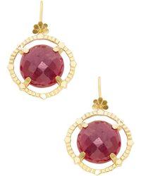 Suneera - Gold-plated Valen Earrings - Lyst