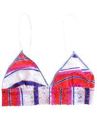 Hanky Panky Cabana Stripe Bralette - Red
