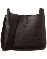 Hermès Black Clemence Leather Evelyne Ii Gm
