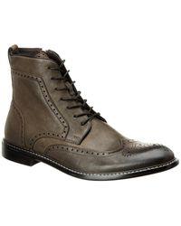 John Varvatos - John Varvatos Leather Wingtip Boot - Lyst