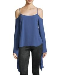 BCBGMAXAZRIA - Cold Shoulder Bell Sleeve Top - Lyst