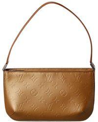 Louis Vuitton Beige Monogram Mat Vernis Leather Fowler - Natural