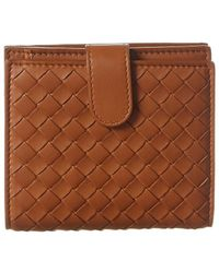 Bottega Veneta Mini Intrecciato Leather Bifold Wallet - Brown