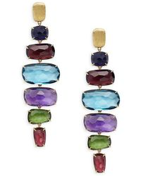 Marco Bicego Murano Multi-stone & 18k Gold Earrings - Yellow