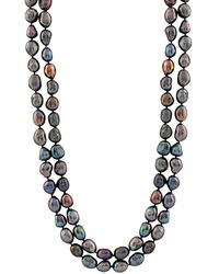 Splendid 9-10mm Freshwater Pearl Endless 64in Necklace - Multicolour