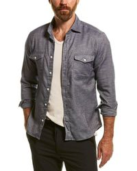 Reiss Duke Natural Overshirt - Blue