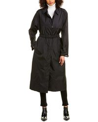 Moncler Charente Long Rain Coat - Black