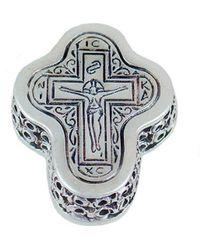Konstantino Silver Pendant Necklace - Metallic