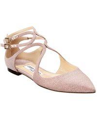 Jimmy Choo Lancer Flat Ballerinas - Pink