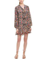 Tolani Paloma Silk Shift Dress - Gray