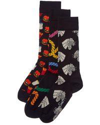 Happy Socks - Pack Of 3 Socks - Lyst