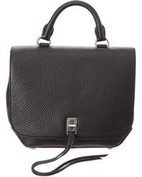 Rebecca Minkoff Darren Medium Leather Convertible Backpack - Black