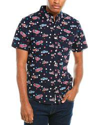Original Penguin Short Sleeve Button Down Shirt - Blue