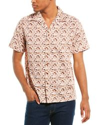 Robert Graham Joryne Classic Fit Woven Shirt - Orange