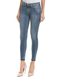 7 For All Mankind 7 For All Mankind Vanity Skinny Crop - Blue