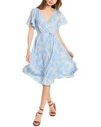Lucy Paris Gemma Midi Dress - Blue