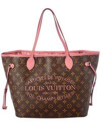 Louis Vuitton Limited Edition Pink Ikat Flower Monogram Canvas Neverfull Mm - Multicolour
