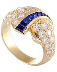 Van Cleef & Arpels Vintage Van Cleef & Arpels 18k 2.56 Ct. Tw. Diamond & Sapphire Ring - Metallic