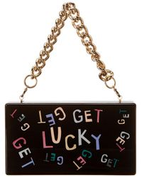 Edie Parker Jean Get Lucky Acrylic Clutch - Black