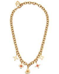 Louis Vuitton Gold-tone Hide And Seek Necklace - Metallic